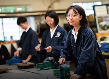 D&T Students using tools