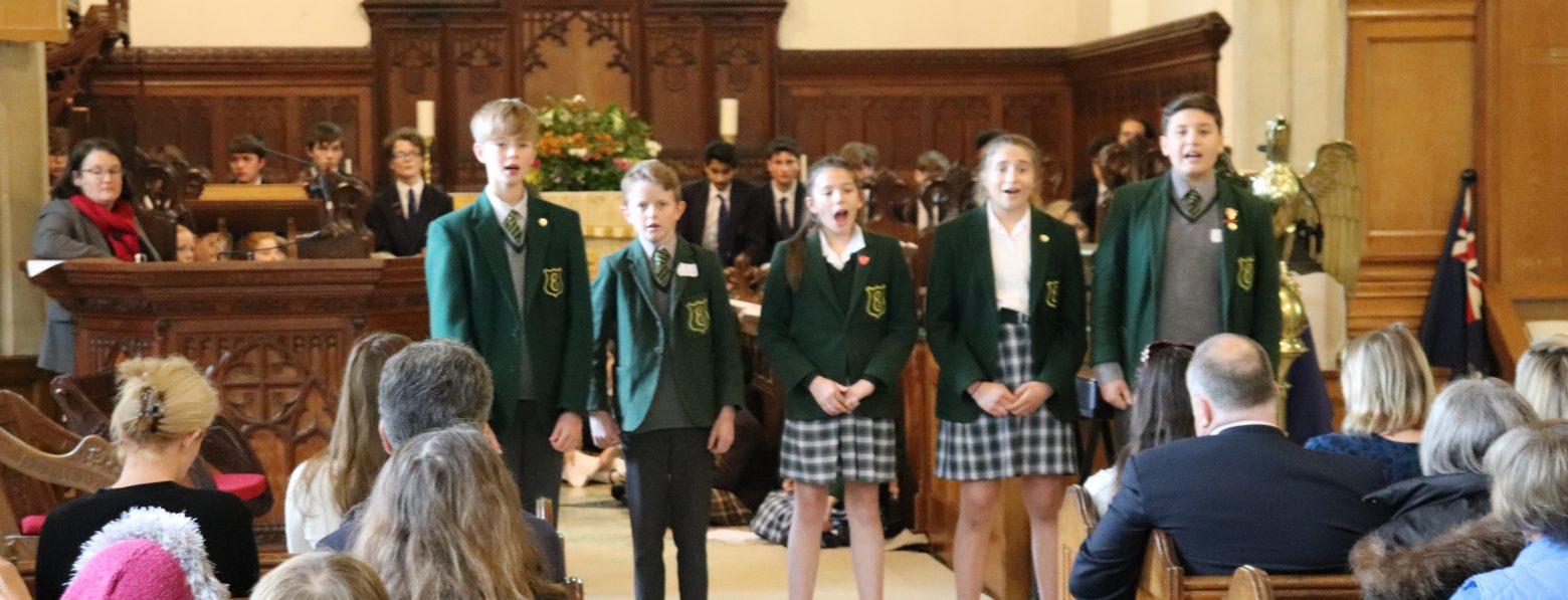 choir performing in church