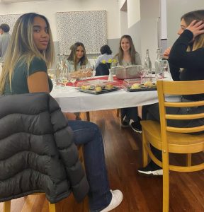 Students begin wine tasting at the school event
