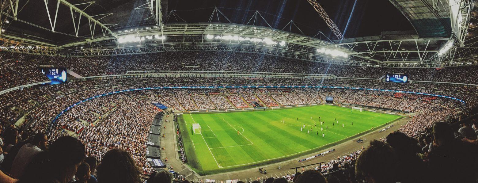 A football stadium